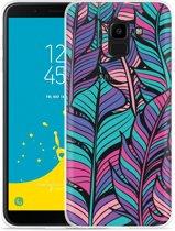 Galaxy J6 Hoesje Design Feathers