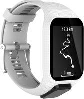 Siliconen Horloge Band Voor Tomtom Adventurer / Golfer 2 / Spark / Runner 2/3 - Armband / Polsband / Strap Bandje / Sportband - Wit