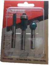 Makita D-30209 3 delige frees set - 6mm