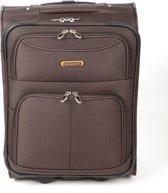 Adventure Bags Havana - Handbagagetrolley - Bruin - Roze Rits
