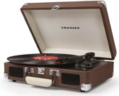 Crosley Cruiser Deluxe Platenspeler - Tweed Bruin - Inclusief Bluetooth