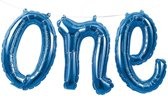 Folieballon 'One' Blauw