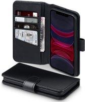 iPhone 11 Bookcase hoesje - CaseBoutique - Effen Zwart - Leer