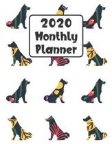 2020 Monthly Planner: Akita Dog - 12 Month Planner Calendar Organizer Agenda with Habit Tracker, Notes, Address, Password, & Dot Grid Pages