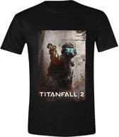Titanfall 2 - Jack Distressed Mannen T-Shirt - Zwart - XL