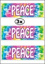 3x Banner PEACE weerbestendig 150x53 cm