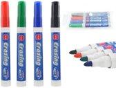 NBH® - 4 Kleuren Whiteboard markers (Zwart, Blauw, Rood en Groen)