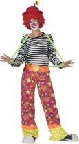 Clown & Nar Kostuum | Clownsbroek Canadia Vrouw | Maat 40-42 | Carnaval kostuum | Verkleedkleding