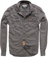 Petrol grijs overhemd - Maat M