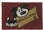 Kokosmat met print / Welcome dog 414 / 40 cm x 60 cm /