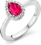 Orphelia ZR-7226/RU/58 Zilver Ring Drop Ruby Color Zirconium