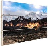 Leh Ladakh stad vlakbij Himalaya Hout 60x40 cm - Foto print op Hout (Wanddecoratie)