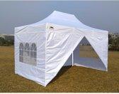 Partytent Easy Up Aluminium 3 x 4,5 meter met zijwanden in Wit