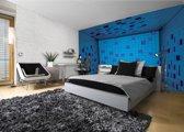 Fotobehang 3D | Blauw, Paars | 208x146cm