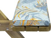 MaximaVida picknicktafel en biertafel kussen Dotan 200 x 27,5 x 5 cm - waterafstotend