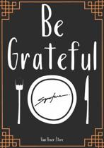 Be Grateful: Blank Recipe Journal to Write in, recipe box, empty recipe Food Cookbook Design, 100-Pages recipe cards 7'' x 10'' Colle