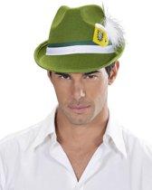 Groene Beierse hoed voor volwassenen - Verkleedhoofddeksel