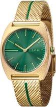 Esprit ES1L035M0075 Spectrum Green Gold Mesh horloge