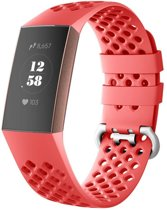 123Watches.nl Fitbit charge 3 sport point band - rood - SM