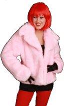 Bontjas dames roze jaren 60 70 Maat 36 - 38