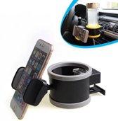 Universele Telefoonhouder & Bekerhouder Auto - Ventilatierooster GSM / iPhone / Smartphone Houder
