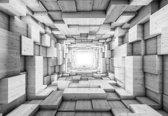 Fotobehang Modern Abstract Design 3D | L - 152.5cm x 104cm | 130g/m2 Vlies
