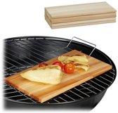 relaxdays rookplank cederhout - set van 6 stuks - zalmplank - barbecueplank - houtplank