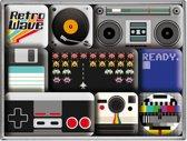 Retro Wave Magneet Set