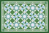 Placemats - Anti-slip - 30 x 45 cm - 4 Stuks - FEZ GREEN