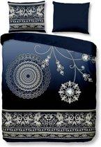 Pure Asiya - Dekbedovertrek - Lits-jumeaux - 240x200/220 cm + 2 kussenslopen 60x70 cm - Blauw