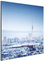 FotoCadeau.nl - Berlijn winter stadslandschap Aluminium 40x60 cm - Foto print op Aluminium (metaal wanddecoratie)