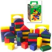 Kleurrijke Blokkendoos - 75-Delig Groot - Speelse Houten Blokken In Doos - Speelblokken Set