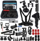 PULUZ 43 in 1 accessoires totaal Ultimate combo Kits voor DJI osmo Pocket met EVA geval (borstband + polsband + zuignap Mount + 3-weg Pivot armen + J-haak Buckle + grip statief mount + surface mounts + beugel frame + scherm film + silicone case + st