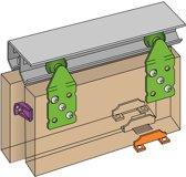 Henderson Schuifdeurbeslag - 120 cm aluminium bovenrails – Voor 2 deuren – Max 45 kg per deur