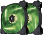 Corsair The Air Series SP 140 LED High Static Pressure Fan Cooling Green Dual Pack