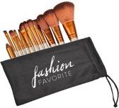 Make Up Kwasten Brush Set - 12-delig | Travel Set | Fashion Favorite