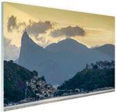 Hoge bergtoppen Rio de Janeiro Glas 120x80 cm - Foto print op Glas (Plexiglas wanddecoratie)