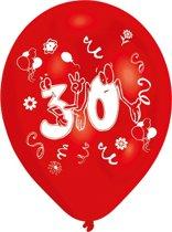Amscan Ballonnen 30 Jaar 8 Stuks 25 Cm