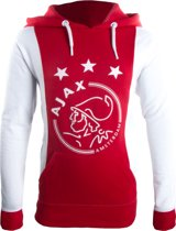 Ajax Sweater Hooded Unisex Wit/rood Maat Xxl