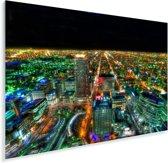 Nachtlichten van de kleurrijke stad Sapporo in Japan Plexiglas 120x80 cm - Foto print op Glas (Plexiglas wanddecoratie)