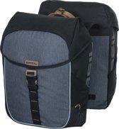 Basil Miles Double bag Dubbele Fietstas - 32l - Zwart slate