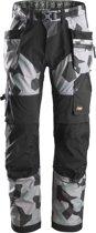 Snickers FlexiWork werkbroek - met holsterzak - grijs camo - maat M taille 50 W34