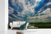 Fotobehang vinyl - Prachtig wolkenveld boven het Nationaal park South Downs in  Engeland breedte 360 cm x hoogte 240 cm - Foto print op behang (in 7 formaten beschikbaar)