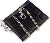 Safekeepers portemonnee met ketting - RFID - Echt leer - Westport - Zwart