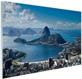 Rio de Janeiro landschap Glas 120x80 cm - Foto print op Glas (Plexiglas wanddecoratie)