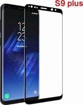 Samsung Glazen screenprotector Samsung Galaxy S9 + / S9Plus  3D volledig scherm bedekt explosieveilige gehard glas Screen beschermende Glas Cover Film zwart