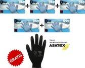 Qtop nitril wegwerp handschoenen latex-en poedervrij - blauw - maat XL