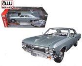 Chevrolet Chevelle SS 396 1966 Zilver Metallic 1-18 Ertl Autoworld Limited 1002 Pieces