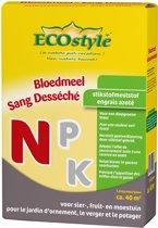 ECOstyle Bloedmeel - 1,6 kg - stikstofmeststof voor sier-,fruit- en moestuin- voor ca. 40 m2