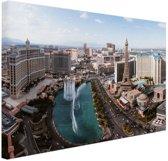 FotoCadeau.nl - Bellagio fontein Las Vegas Canvas 30x20 cm - Foto print op Canvas schilderij (Wanddecoratie)